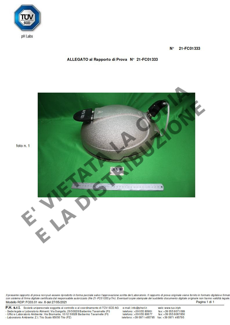 Fornetto ILLILLO Extreme Certificazione resistenza AISI 321 pag.3
