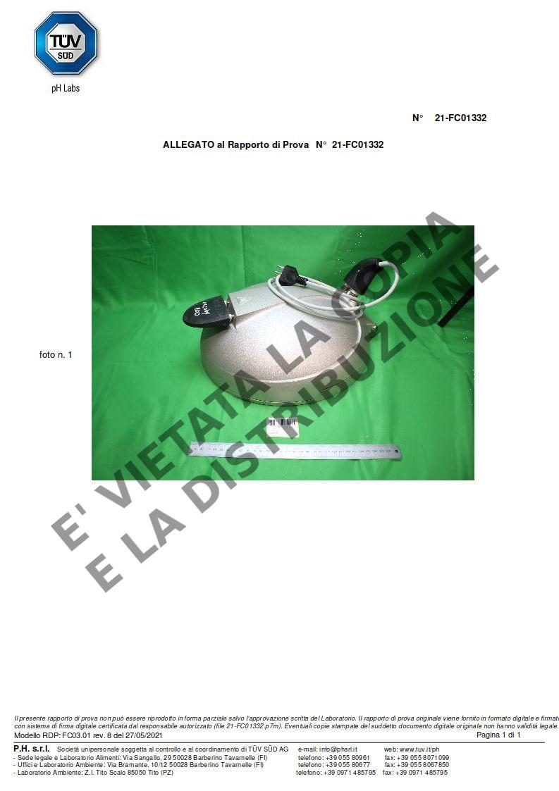 Fornetto ILLILLO Extreme Certificazione resistenza INCOLOY pag.3