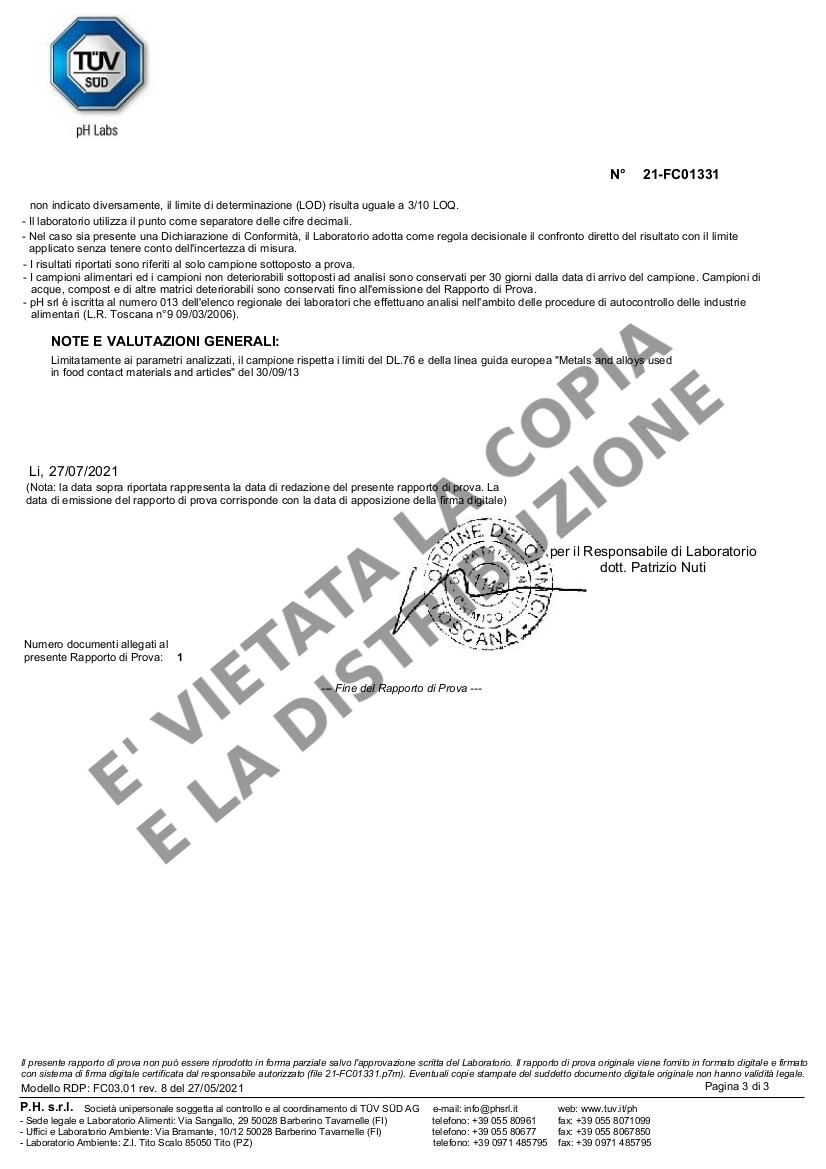 Fornetto ILLILLO Extreme Migrazione resistenza AISI 321 pag.3